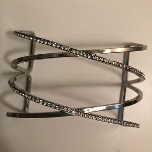 Jewelry - Silver rhinestone bracelet/arm cuff